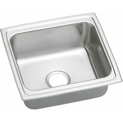 Lustertone 19 x 18 Gourmet Single Bowl Kitchen Sink
