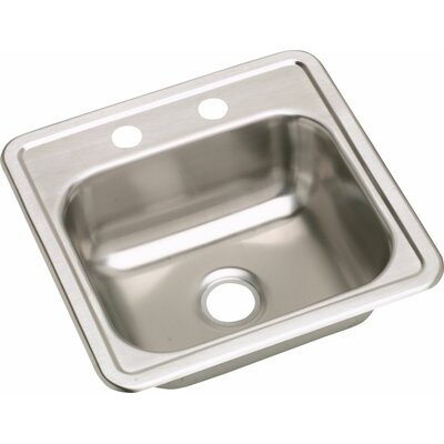 Dayton 15 x 15 2 Hole Bar Sink