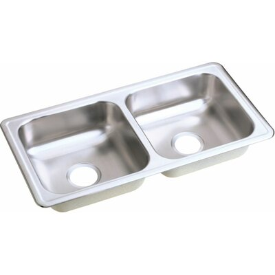 Dayton 33 x 17 Top Mount Double Kitchen Sink