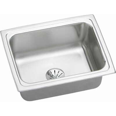 Gourmet 25 x 19.5 Top Mount Kitchen Sink with Perfect Drain