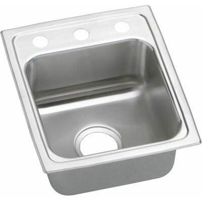 Gourmet 15 x 17.5 Lustertone Kitchen Sink Faucet Drillings: 2 Holes