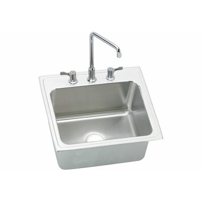 Gourmet 22 x 22 x 10.13 Top Mount Kitchen Sink with U-Channel Type Mounting System