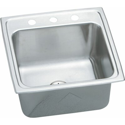Gourmet 19.5 x 19 Kitchen Sink with Perfect Drain Faucet Drillings: 3 Hole