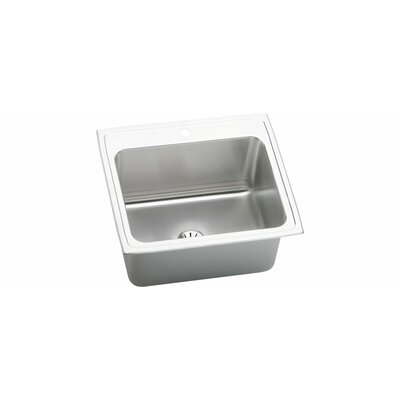 Gourmet 25 x 22 Kitchen Sink with Perfect Drain Faucet Drillings: 2 Hole