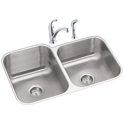 Dayton 32 x 20 Double Basin Undermount Kitchen Sink