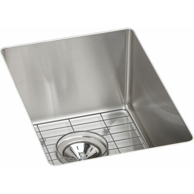 Crosstown Single Bowl Undermount Bar Sink Kit