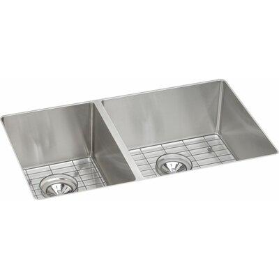 Crosstown 32 x 19 Double Basin Undermount Kitchen Sink