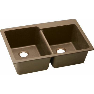 Quartz Classic 33 x 22 Kitchen Sink Finish: Mocha