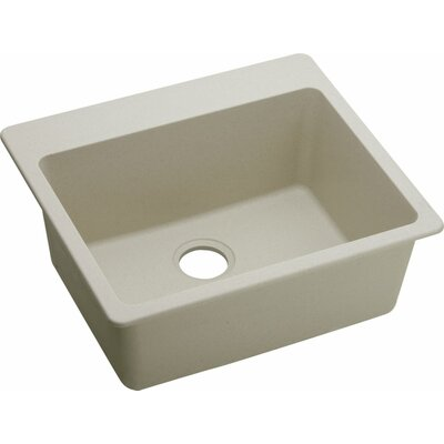 Quartz Classic 25 x 22 Kitchen Sink Finish: Bisque