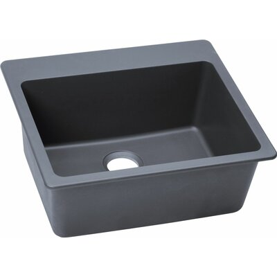 Quartz Classic 25 x 22 Kitchen Sink Finish: Dusk Gray