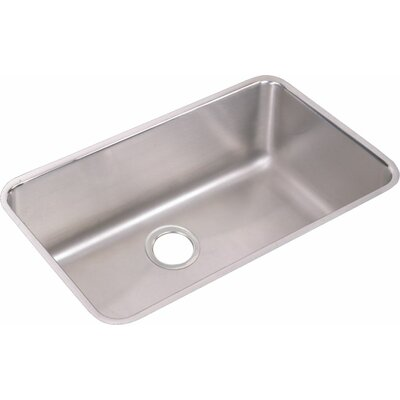 Lustertone 30.5 x 18.5 Undermount Single Bowl Kitchen Sink with Drain Assembly and Bottom Grid