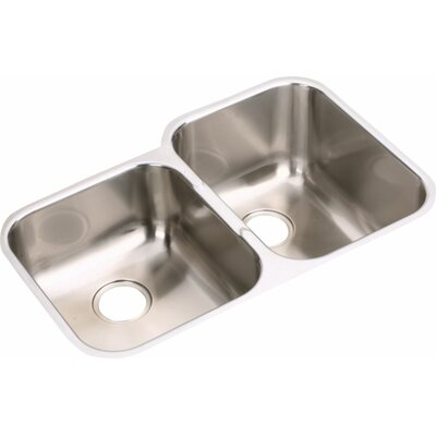 Elumina 31.25 x 20.5 Double Basin Undermount Kitchen Sink