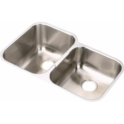 Elumina 31.25 x 20.5 Undermount Double Kitchen Sink Bowl Configuration: Right
