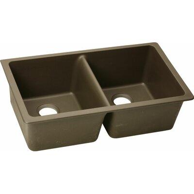 Quartz Classic 33 x 18.75 Undermount Kitchen Sink Finish: Mocha