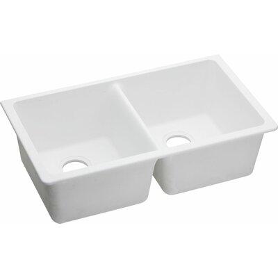 Quartz Classic 33 x 18.75 Undermount Kitchen Sink Finish: White