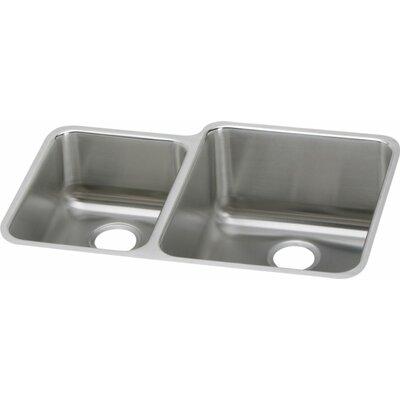 Gourmet 30.75 x 21 Undermount Kitchen Sink Drain Location: Left