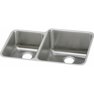 Gourmet 30.75 x 21 Double Basin Undermount Kitchen Sink