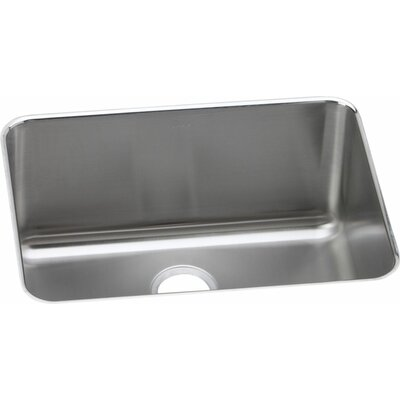 Gourmet 25 x 18.75 Single Bowl Undermount Kitchen Sink Drain Location: Center