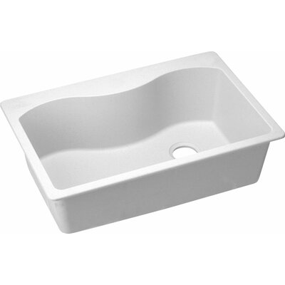 Quartz Classic 33 x 22 Kitchen Sink Finish: White