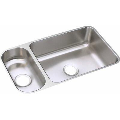 Lustertone 32.25 x 18.25 Double Bowl Undermount Kitchen Sink