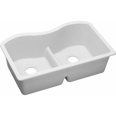 Quartz Classic 33 x 20.1 Undermount Kitchen Sink Finish: White