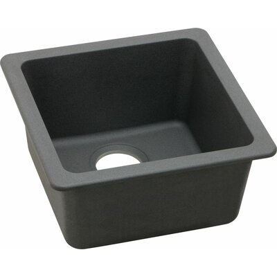 Quartz Classic 16.6 x 16.6 Universal Mount Kitchen Sink Finish: Dusk Gray