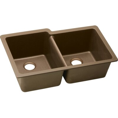 Quartz Classic 33 x 20.5 Undermount Kitchen Sink Finish: Mocha