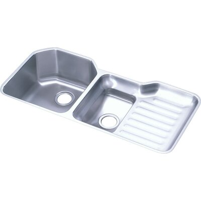 Lusterone 41.5 x 20.5 Double Basin Undermount Kitchen Sink