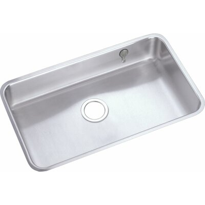 Lustertone 30.5 x 18.5 Undermount Single Bowl Kitchen Sink with E-Dock Hook