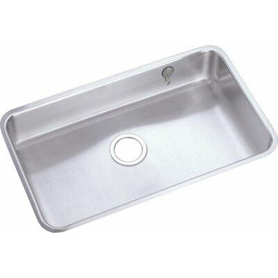 Lustertone 30.5 x 18.5 Undermount Single Bowl Kitchen Sink with E-Dock Hook