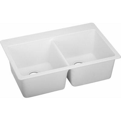 Quartz Classic 33 x 22 Kitchen Sink Finish: White