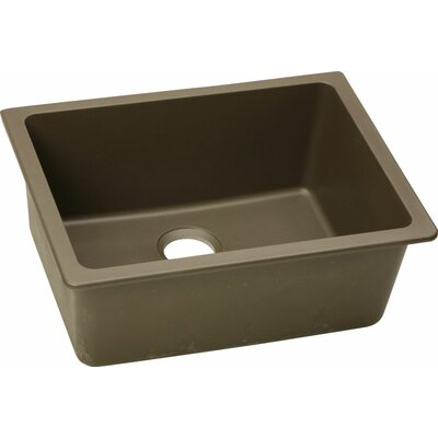 Quartz Classic 25 x 18.5  Undermount Kitchen Sink Finish: Mocha