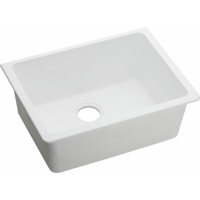 Quartz Classic 25 x 18.5  Undermount Kitchen Sink Finish: White