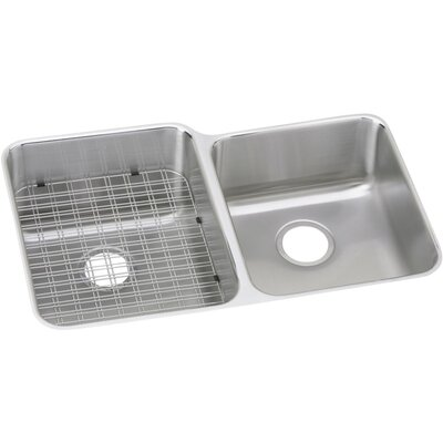 Gourmet 31.25 x 20.5 Double Basin Undermount Kitchen Sink