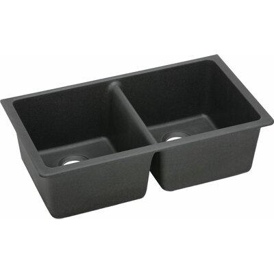 Quartz Classic 33 x 18.75 Undermount Kitchen Sink Finish: Black