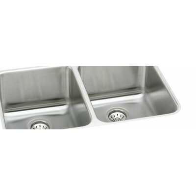Gourmet 35.75 x 18.5 Kitchen Sink with Bottom Grid and Drain Assembly