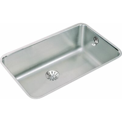 Lustertone 30.5 x 18.5 Undermount Single Bowl Kitchen Sink with Perfect Drain and E-Dock Hook