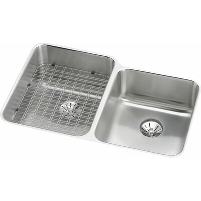 Gourmet 31.25 x 20.5 Undermount Kitchen Sink with Perfect Drain Bowl Orientation: Right