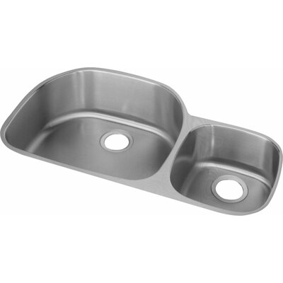 Harmony 36.31 x 21.13 Double Basin Undermount Kitchen Sink