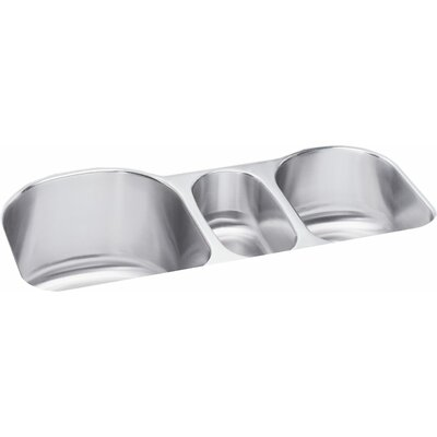 Lustertone 39.5 x 20 Undermount Triple Bowl Kitchen Sink