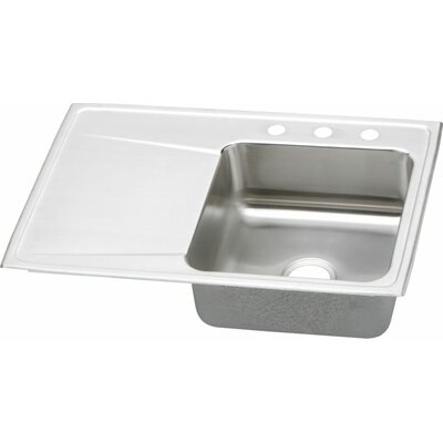 Gourmet 33 x 22 Kitchen Sink Faucet Drillings: 4 Hole, Bowl Configuration: Right