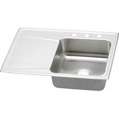 Gourmet 33 x 22 Kitchen Sink Faucet Drillings: 4 Hole, Bowl Configuration: Left