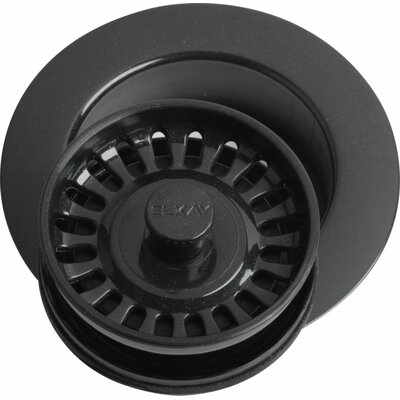Disposer Flange 4.43 Grid Kitchen Sink Drain Finish: Black