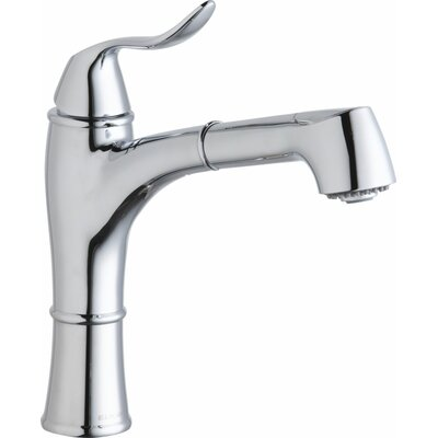 Explore Single Handle Deck Mount Kitchen Faucet with Pullout Spray