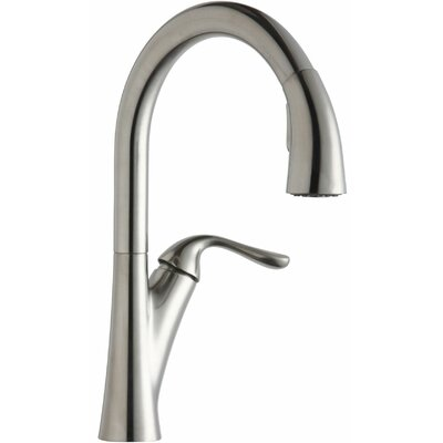 Harmony Single Handle Deck Mount Kitchen Faucet Finish: Lustrous Steel