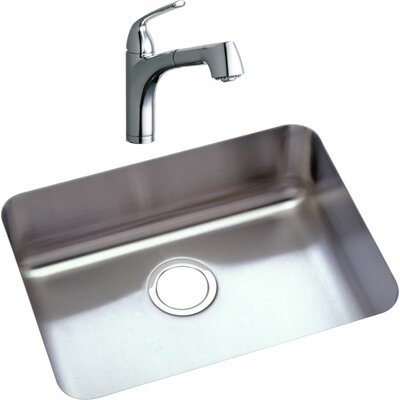 22.5 x 17.25 Kitchen Sink with Faucet Finish: Chrome