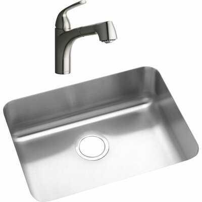 22.5 x 17.25 Kitchen Sink with Faucet Finish: Brushed Nickel