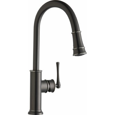 Explore Single Handle Deck Mount Kitchen Faucet with Pull Down Spray