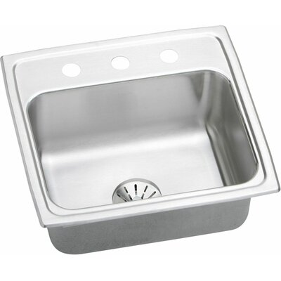 Gourmet 19.5 x 19 Kitchen Sink with Perfect Drain Faucet Drillings: No Hole