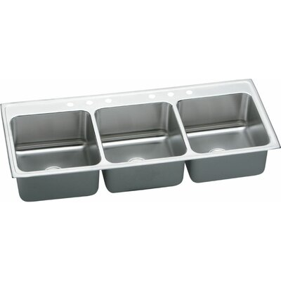 Lustertone 54 x 22 Triple Bowl Kitchen Sink